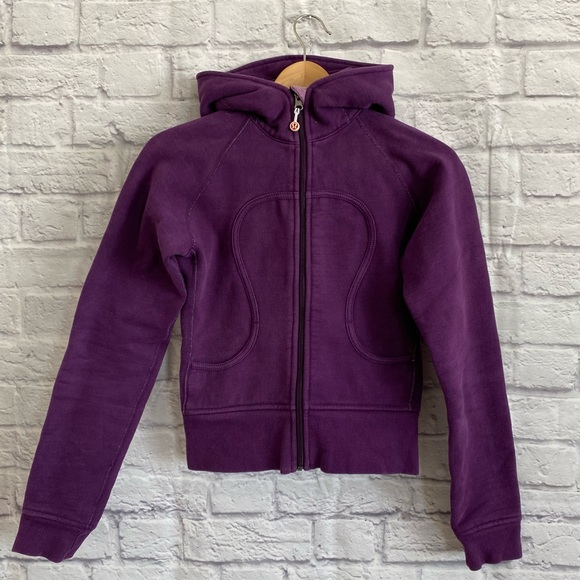 LULULEMON Dark Purple Scuba Zip Up Hoodie Jacket